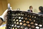 籐籃上緣處