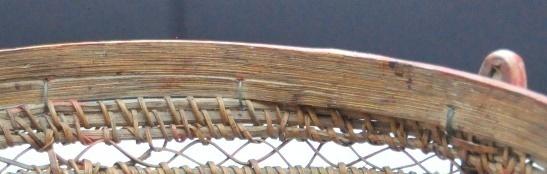 收編後以藤條用附條打結縫綴法