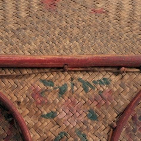 底部:打結縫綴法加固