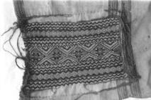 台灣博物館收藏早期邵族胸兜。