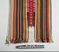 館方另有典藏余榮妹耆老的夾織布料一件