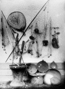 早期雅美族的器具-漁具、日常用具,轉載自 鳥居龍藏眼中的台灣原住民-跨越世紀的影像,1994:66