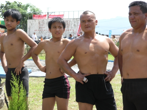 延平鄉桃源村96年度全鄉射耳祭摔手選手