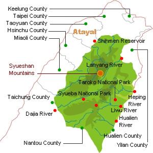 Atayal distribution map