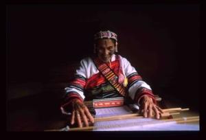 Weaving by women