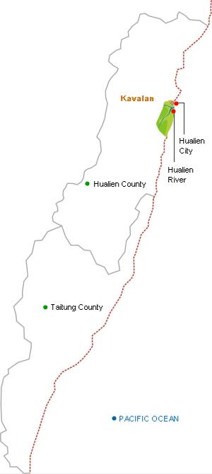 Kavalan distribution map