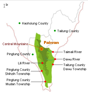 Paiwan distribution map