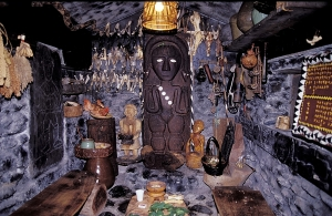 The ceremonial/prayer house of the chief of Tuban Village of Paiwan