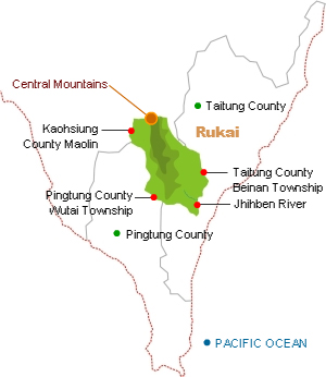 Rukai distribution map