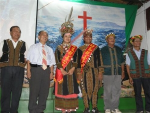 The Harvest Festival in Haocha village  on August, 9th, 2008- The picture of goodwill princess, ambassador and judges