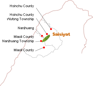 Saisiyat distribution map