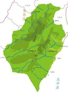 泰雅族在台灣山區分佈圖