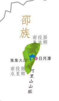邵族在南投縣分佈圖