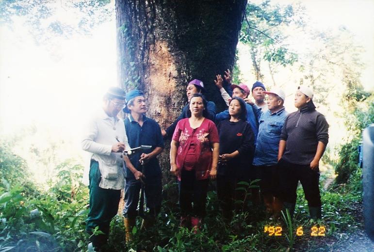 民國92年拉芙蘭部落族人曾自主回到傳統領域進行標點與紀錄