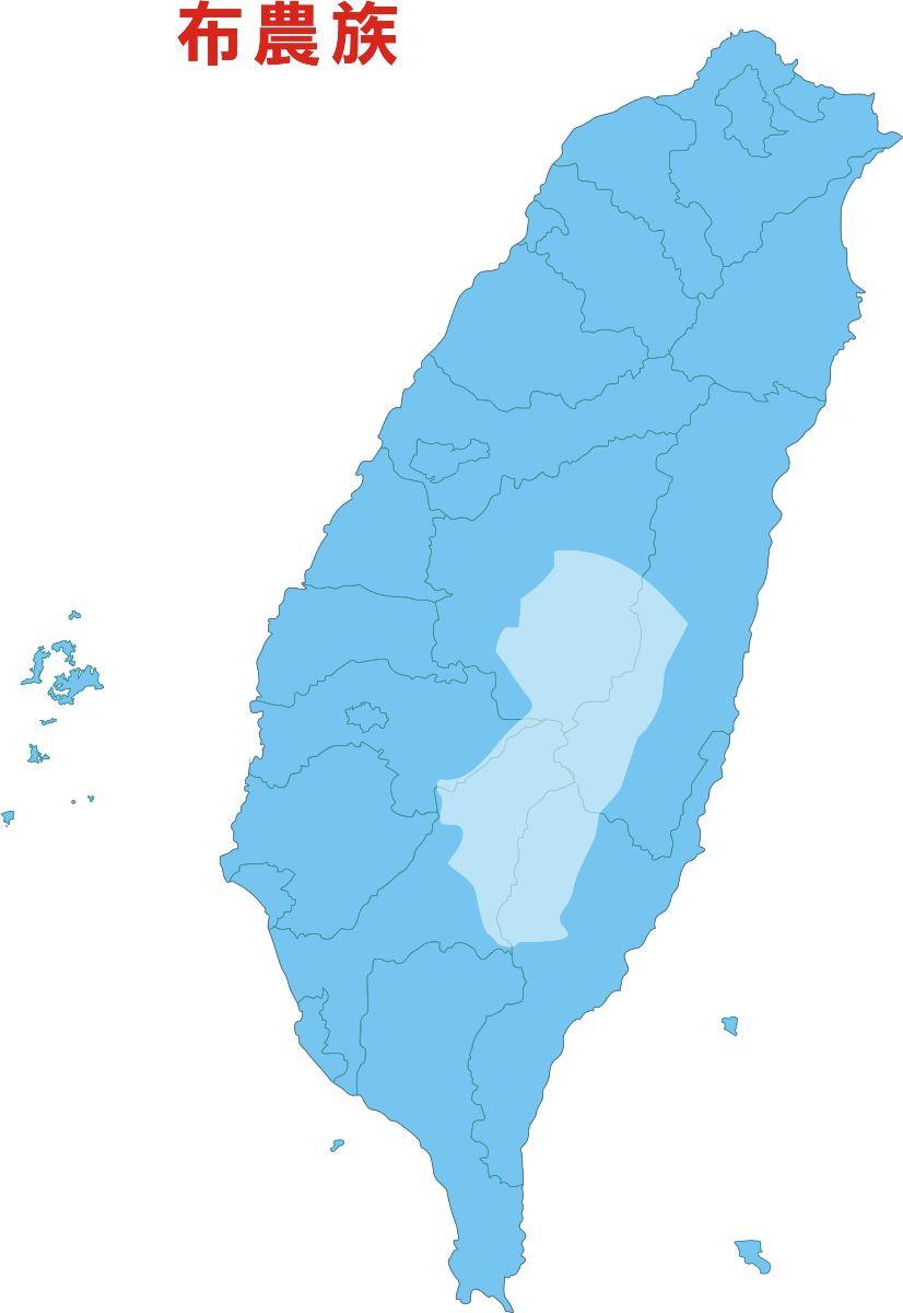 布農族群分布圖
