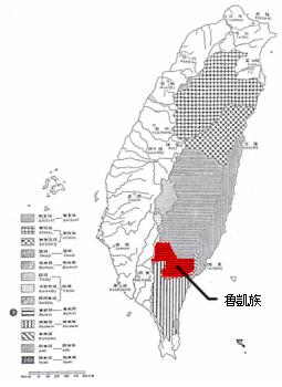 台灣原住民分布圖