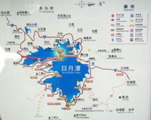 日月潭地理簡圖