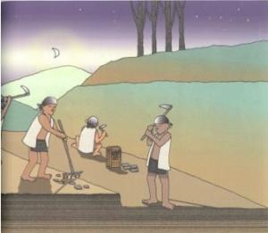基地整平示意圖(陳世國/布農的家-潭南社區文化傳承系列)