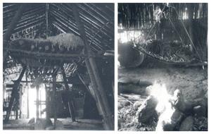 中央柱、三石柱及爐上棚架