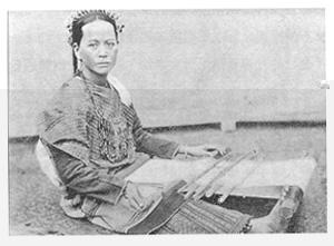 早期婦女織布的情形