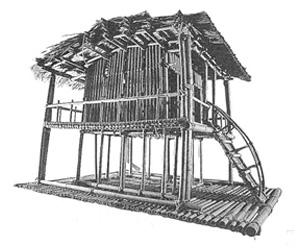干欄屋模型